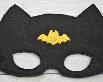 Bat Boy Children's Felt Mask  - Costume - Theater - Dress Up - Halloween - Face Mask - Pretend Play - Party Favor