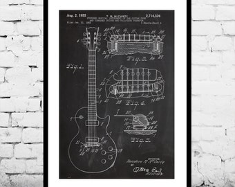 Gibson Les Paul Guitar Print, Gibson Les Paul Guitar Poster, Gibson Les Paul Patent, Les Paul Guitar Art, Gibson Les Paul Decor