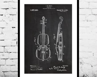 Violin Poster, Violin Patent, Violin Print, Violin Art, Violin Decor, Violin Wall Art, Violin Blueprint, String Instrument Decor, Music Art