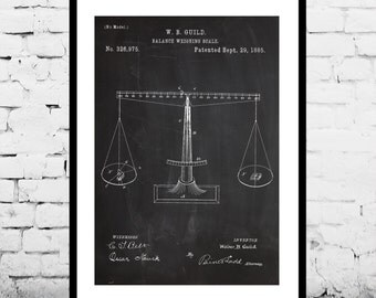 Scales of Justice Print, Scales of Justice Poster, Scales of Justice Patent, Scales of Justice Art, Lawyer Gift, Gifts for Lawyers