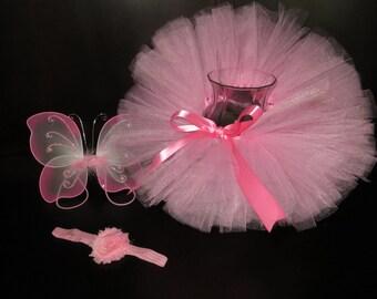 Pink tutu, pink newborn tutu, pink infant tutu, pink baby tutu