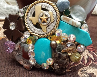 Vintage jeweled belt buckle
