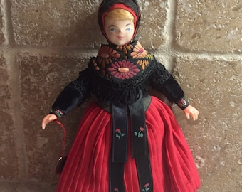 Vintage Painted Face Danish Girl Doll made in Denmark
