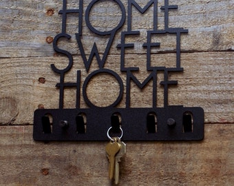 Home Sweet Home Decorative Key Holder / Wall Hook / Key Rack