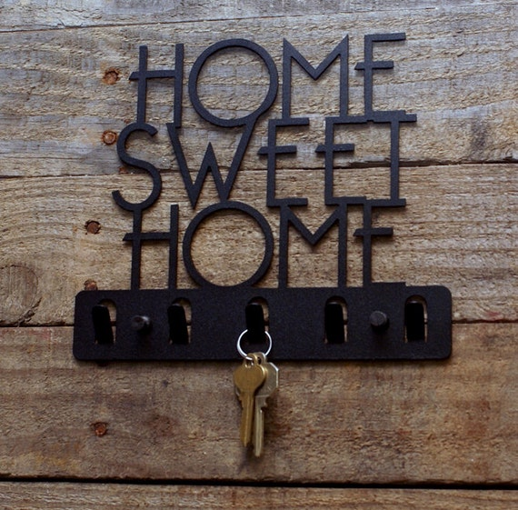 Home Sweet Home Decorative Key Holder Wall Hook Key Rack