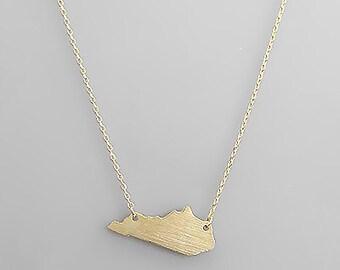 Gold Kentucky Necklace
