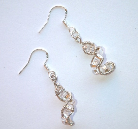 Lovely glass bead earings with 925S Silver hooks
