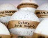 Detox Bath Bomb, Aromatherapy Bath Bomb, Dead Sea Mud, All Natural Bath Bomb Fizzy