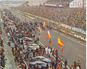 1968 24 hours of Lemans Vintage Reproduction Racing Poster