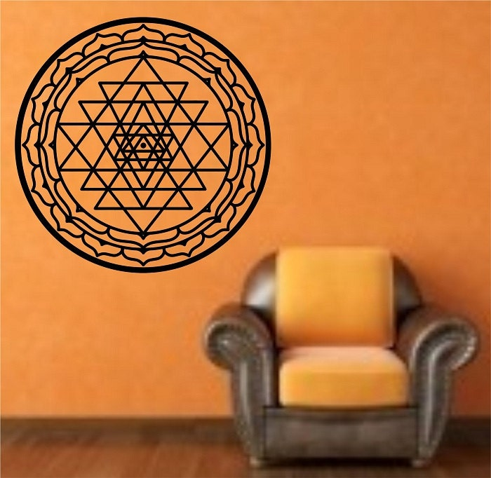 Wall Decor Stickers In Sri Lanka : Sri yantra wall decal mandala sticker art decor bedroom design