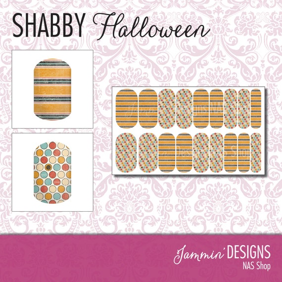 Shabby Halloween NAS (Nail Art Studio) Design