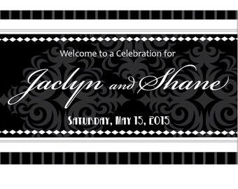 Black and White Birthday Party Door Sign. Birthday. Elegant. Classic. Milestone. 21. 30. 40. 50. 60