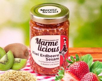 Kiwi Strawberry Sesame fruit spread