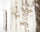 Handwoven Wall Hanging // Weaving // Tapestry // Fiber Art