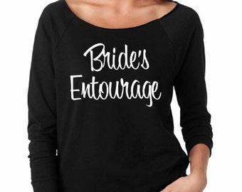 Bride's Entourage Light Weight Sweatshirt. Bride's Entourage Shirts. Bridal Party shirts. Wedding shirts. Bachelorette Party shirts.