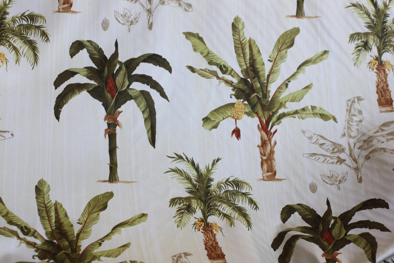 Fabric Banana Palm Tree print For Drapery Bedding