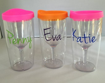 Wine To Go Cup Etsy
