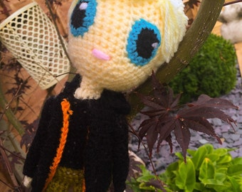 Peeta Mellark from the Hunger Games crochet doll
