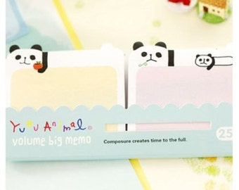 Cute Kawaii Korean Stationery PANDA Sticker Notes/1PC