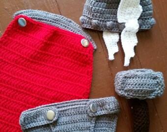 Handmade thor baby set