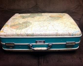Vintage ReFab'd Suitcase