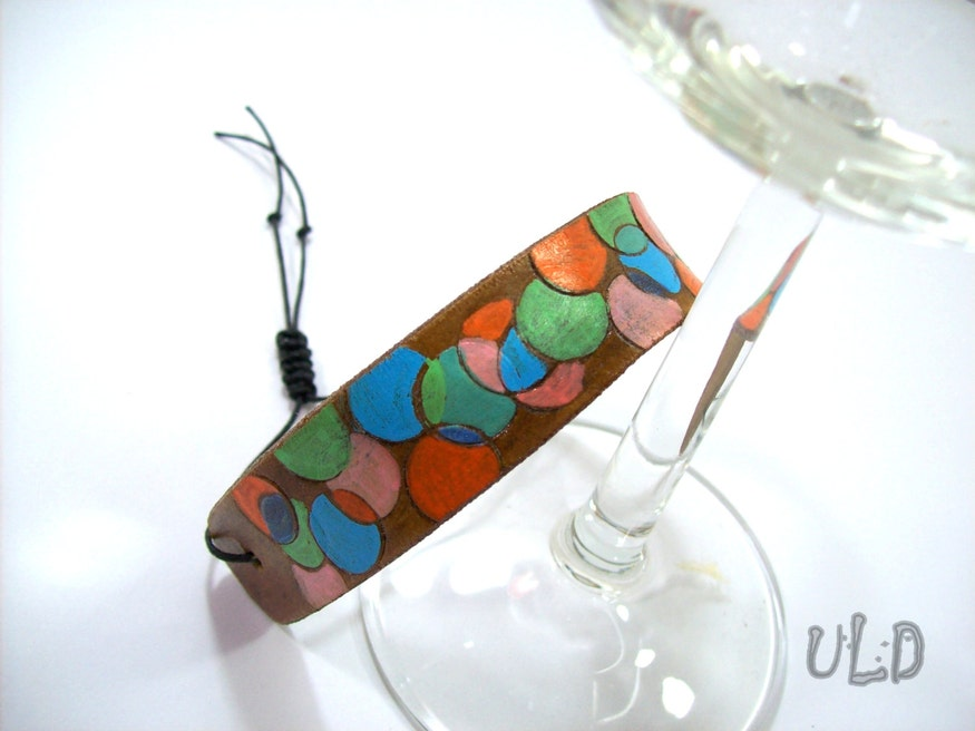 Multicolor Leather Cuff Bracelet