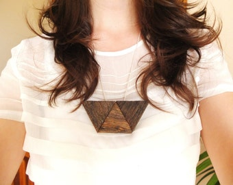Wooden Geo Necklace