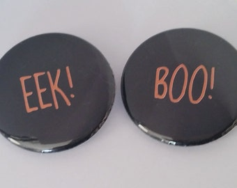 Halloween Buttons or Magnets Two Pack