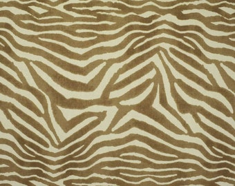 CLARENCE HOUSE MANDARI Animal Print Linen Fabric 10 Yards Tan