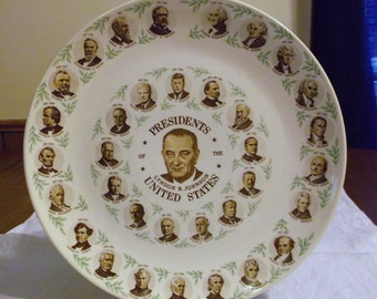 President Lyndon B. Johnson Presidents of the United States Commemorative Plate