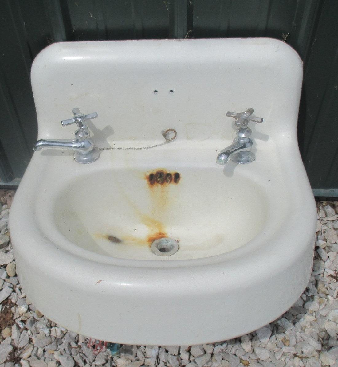antique porcelain bathroom lavatory kitchen sink cast iron farm pantry doctor d