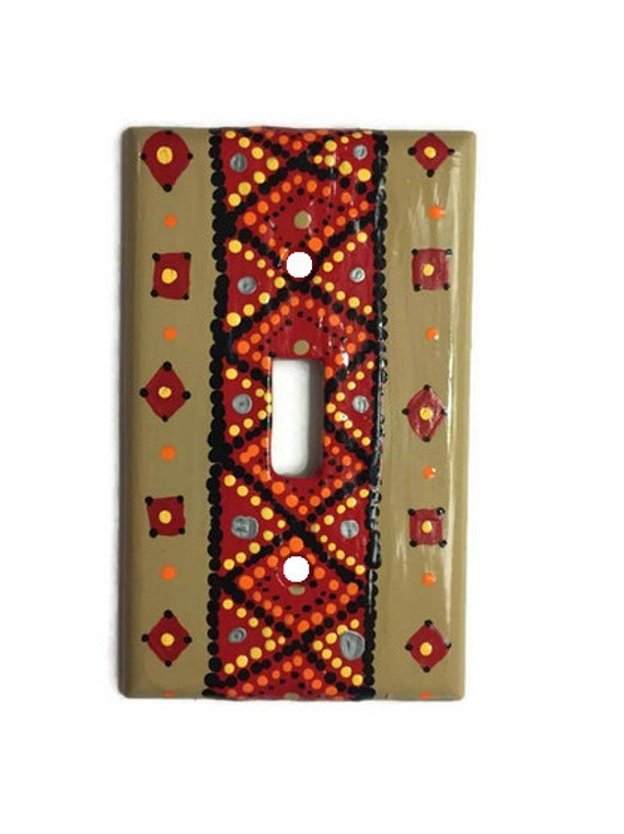 Tribal Light Switch Hand Painted Single Tribal Light Switch