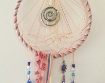 Carnival Cotton Candy Dream Catcher