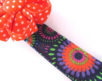 Millicent's Sassy Sunburst Dog Collar, Girl Dog Collar, Large Dog Collar, Small Dog Collar, Purple, Pink, Red, Blue, Stylish, Designer