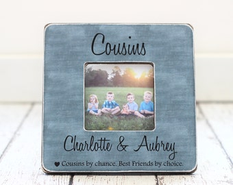 cousin christmas holiday gift picture frame cousins best friends family personalized gift picture frame