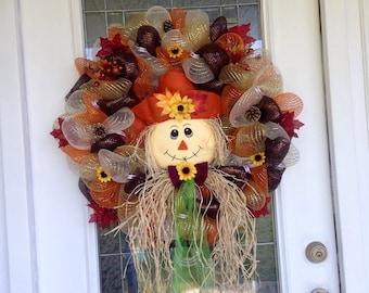 Fall scarecrow wreath!!!