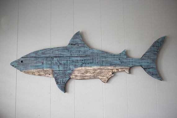 Shark Pallet Wood Wall Decor 41 Painted