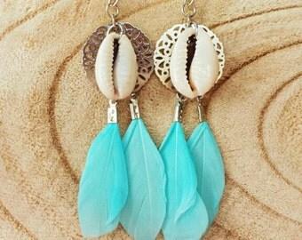 Ibiza feather earrings