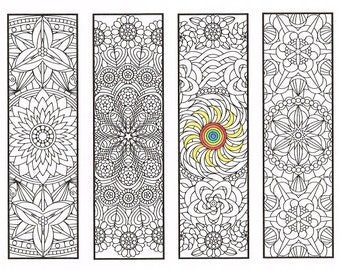 Coloring Bookmarks Coloring Book Bundle 15 printable adult