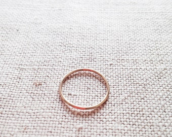 14k Solid Gold Ring - 14k Yellow Gold Ring - Solid Gold Ring - 14kt Gold Ring - 14kt Thin Gold Ring - Gold Ring 14k - Gold Ring 14kt- 14k