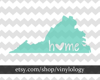 ANY State Decal, State Sticker, Home State Decal, State Pride, State Love, Custom Home State Vinyl Decal, Monogram Decal, State Monogram