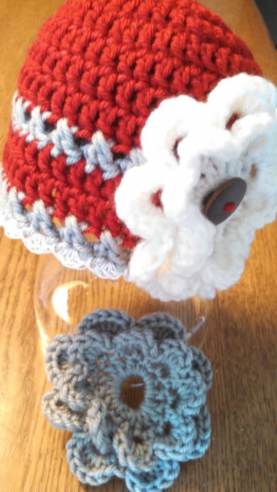 O H Hand Crocheted Ohio State University Infant Baby Girl