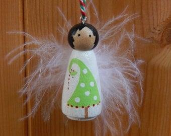 Peg Doll Christmas decoration,Christmas angel decoration, Christmas Fairy, Christmas tree decoration, Festive decoration, Whimsical Fairy