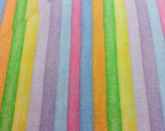 Fabri-Quilt, Inc. 100 240. Garden Baby pastel Stripe