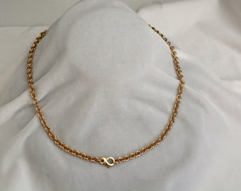 14kt Handmade 5.5mm Cable Link Chain