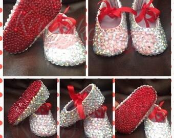 Newborn Baby Mary Jane bling booties