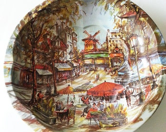 Vintage, old town Scene, Decorative Plate, Wall Art, Wall hanging