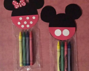 Mickey Mouse Clubhouse Crayon Party Favors. Set of 10