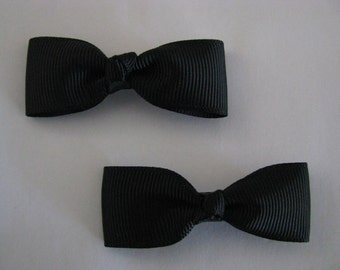 baby girl hair accessories black bow clips