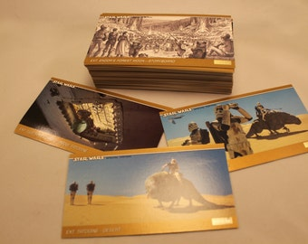 Star Wars Trilogy Special Edition Topps Wide Vision Trading Card Set, Complete 72 Base Card Set, Gold Borders